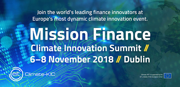 Mission Finance - Climate Innovation Summit - Dublin on 6 – 8th November