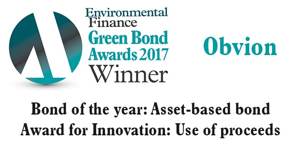 Bond of the year: Asset-based bond and Award for innovation: Use of proceeds - Obvion