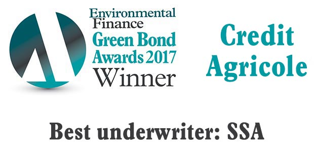 Best underwriter: SSA - Credit Agricole